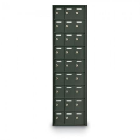 27 Door Private Use Rear Loading Horizontal Mailbox - Bronze
