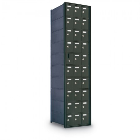 29 Door Private Use Front Loading Horizontal Mailbox - Bronze