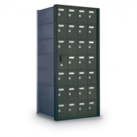 27 Door Private Use Front Loading Horizontal Mailbox - Bronze