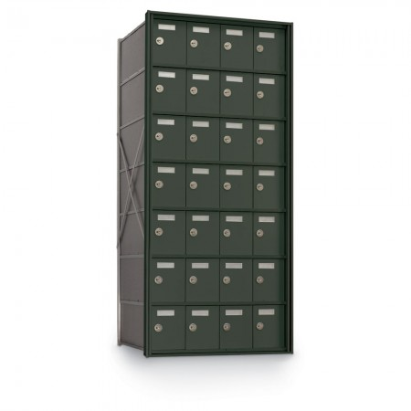 28 Door Private Use Rear Loading Horizontal Mailbox - Bronze