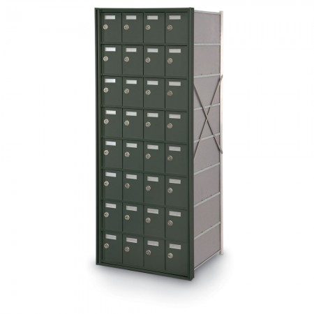 32 Door Private Use Rear Loading Horizontal Mailbox - Bronze