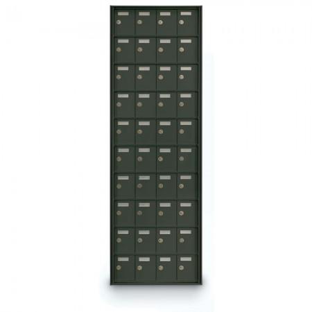 40 Door Private Use Rear Loading Horizontal Mailbox - Bronze