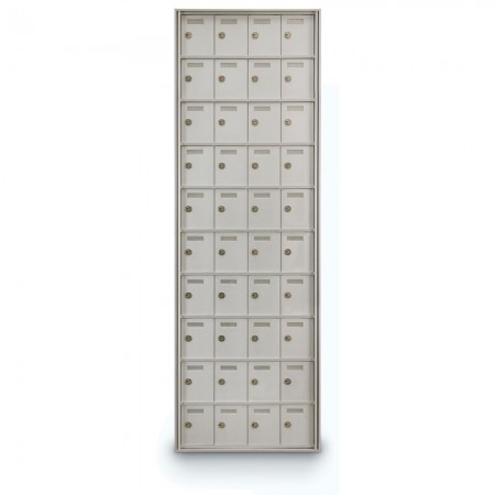 40 Door Private Use Rear Loading Horizontal Mailbox - Silver