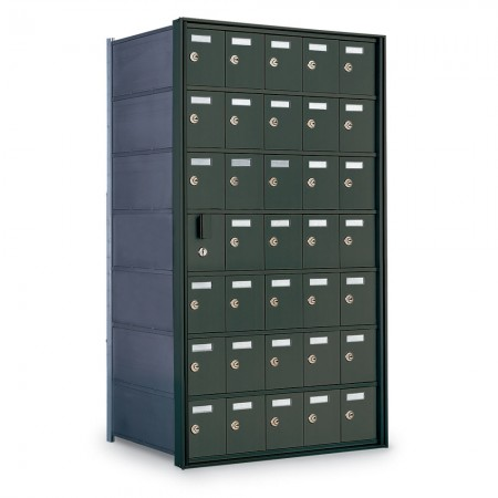 34 Door Private Use Front Loading Horizontal Mailbox - Bronze