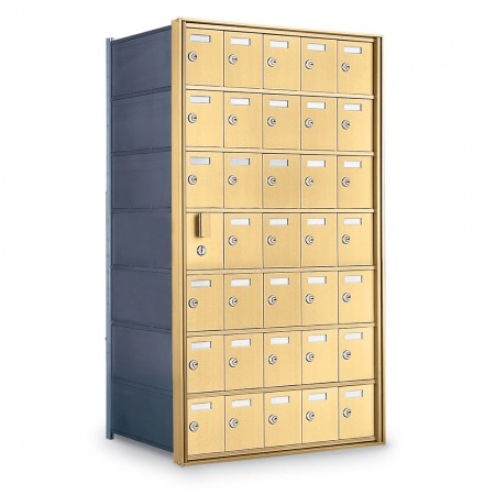 34 Door Private Use Front Loading Horizontal Mailbox - Gold