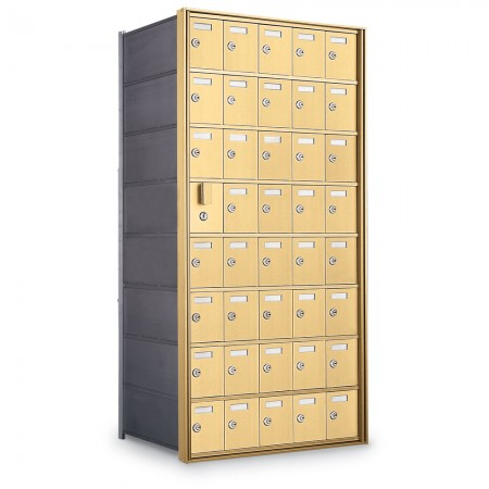 39 Door Private Use Front Loading Horizontal Mailbox - Gold