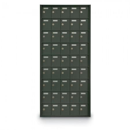 45 Door Private Use Rear Loading Horizontal Mailbox - Bronze