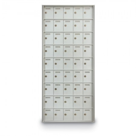 45 Door Private Use Rear Loading Horizontal Mailbox - Silver