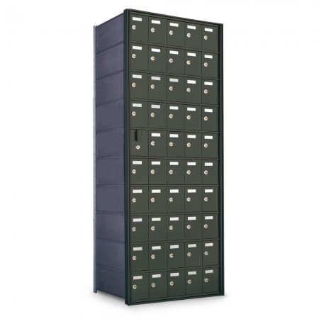 49 Door Private Use Front Loading Horizontal Mailbox - Bronze