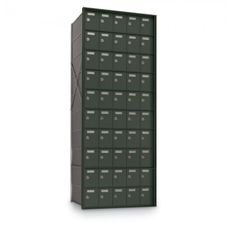 50 Door Private Use Rear Loading Horizontal Mailbox - Bronze