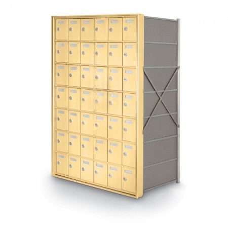 42 Door Private Use Rear Loading Horizontal Mailbox - Gold