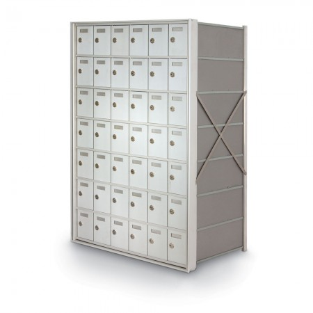 42 Door Private Use Rear Loading Horizontal Mailbox - Silver