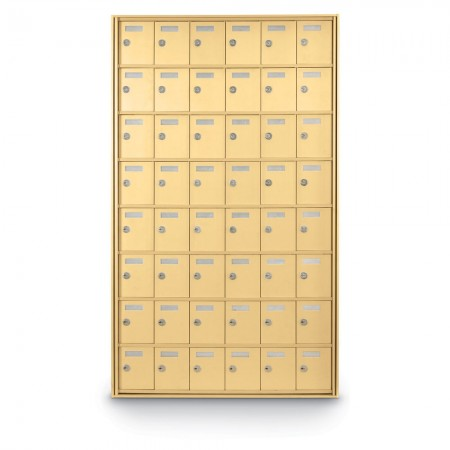 48 Door Private Use Rear Loading Horizontal Mailbox - Gold