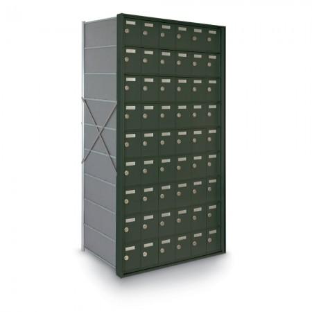 54 Door Private Use Rear Loading Horizontal Mailbox - Bronze