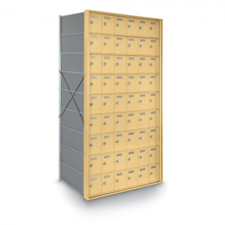 54 Door Private Use Rear Loading Horizontal Mailbox - Gold