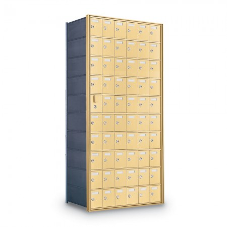 59 Door Private Use Front Loading Horizontal Mailbox - Gold