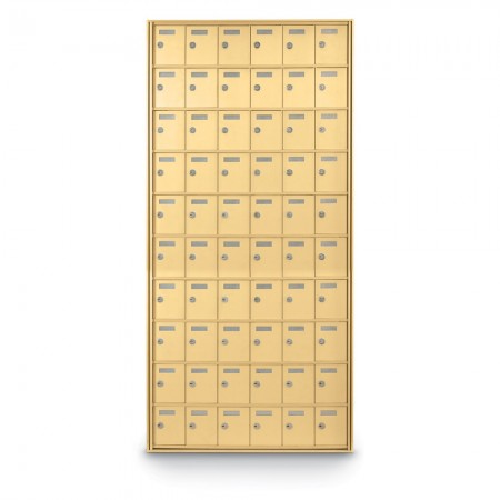 60 Door Private Use Rear Loading Horizontal Mailbox - Gold