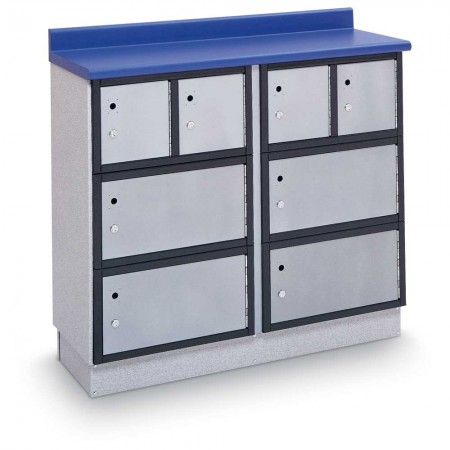 """Secure Storage Locker with Writing Surface, 48""""W - CABINET ONLY"""