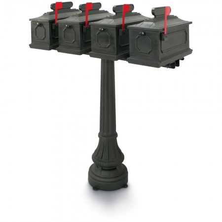Sutherland 1812 Quadruple Residential Mailboxes & Post