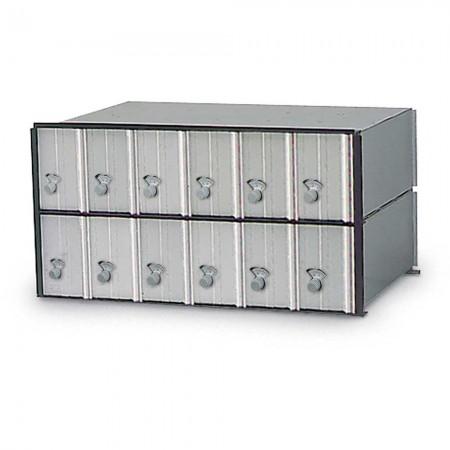 12 Door Rack Ladder PO Box Module - Combination Locks