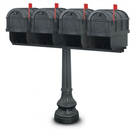 Canterbury 1092 Quadruple Residential Mailboxes & Post