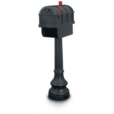 Bailey 1092 Residential Mailbox & Post - Black