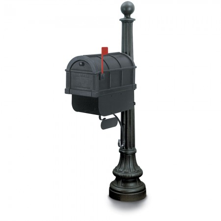 Donan 1092 Residential Mailbox & Post - Black
