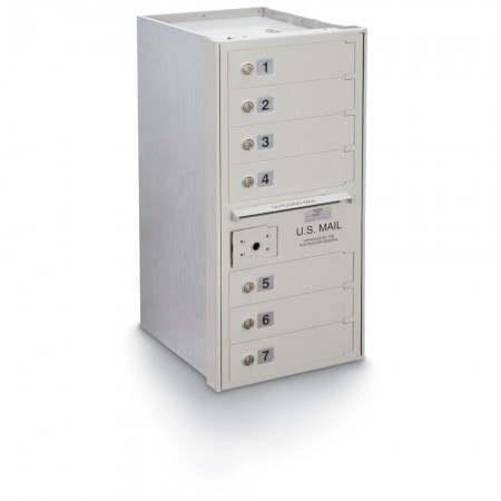 7 Door High Security 4C Horizontal Mailbox