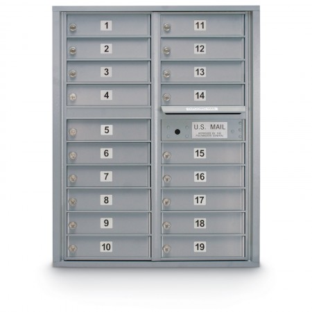 19 Door 4C Horizontal Mailbox