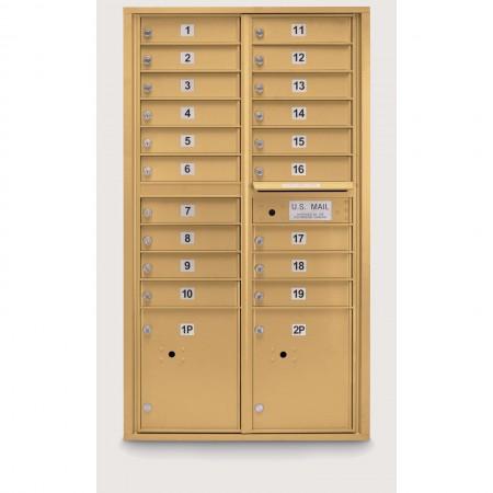 19 Door 4C Horizontal Mailbox - 2 Parcel Lockers