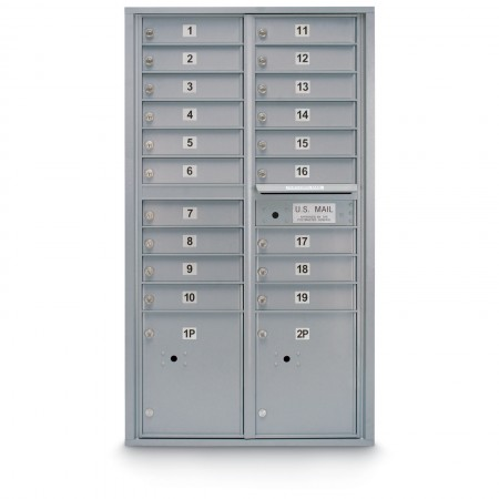 19 Door 4C Horizontal Mailbox - 2 Parcel Lockers