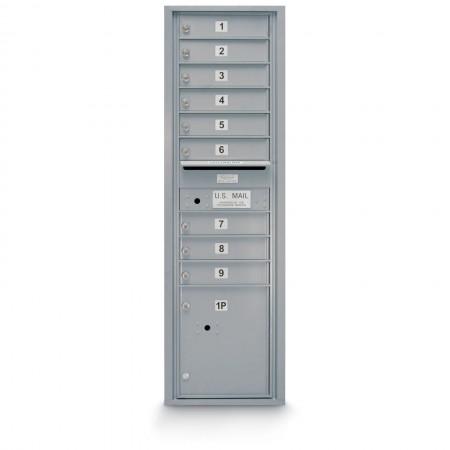 9 Door 4C Horizontal Mailbox - 1 Parcel Locker