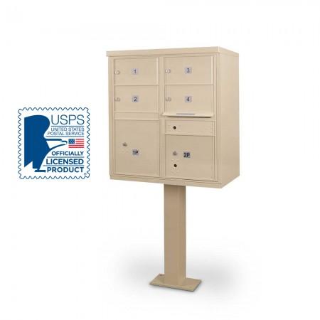 4 Door F-spec Large Capacity Cluster Box Unit with Pedestal