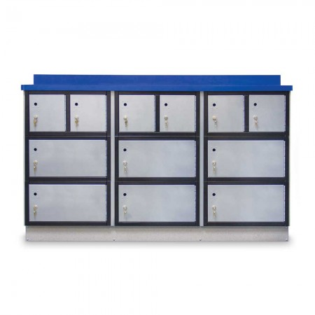 """Secure Storage Locker with Writing Surface, 72""""W"""