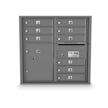 9 Door, 1 Parcel Locker 4C Horizontal Mailbox