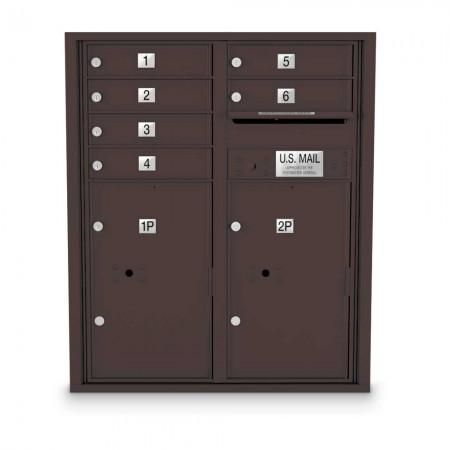 6 Door 4C Horizontal Mailbox