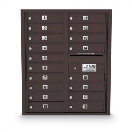 18 Door 4C Horizontal Mailbox
