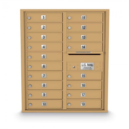 18 Door 4C Horizontal Mailbox