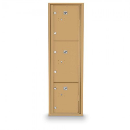 3 Parcel Locker 4C Horizontal Mailbox