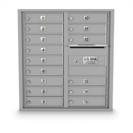 15 Door 4C Horizontal Mailbox