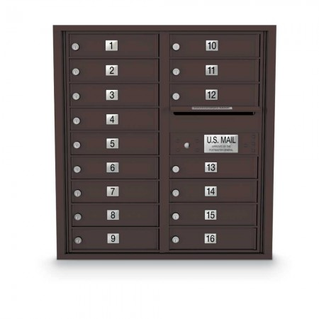 16 Door 4C Horizontal Mailbox