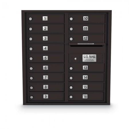 16 Door 4C Horizontal Mailbox