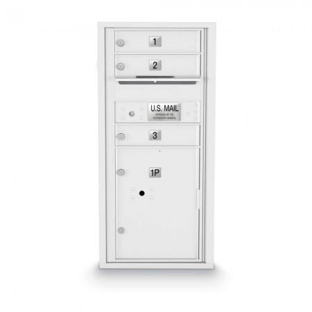 3 Door, 1 Parcel Locker 4C Horizontal Mailbox