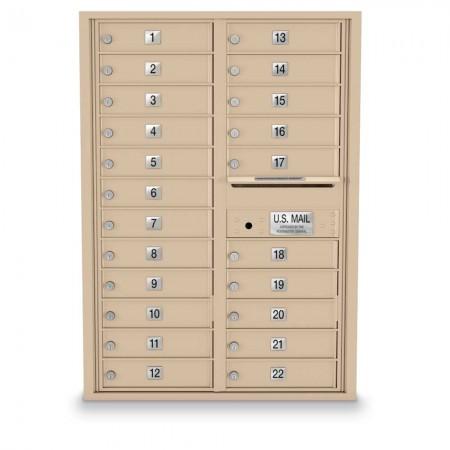 22 Door 4C Horizontal Mailbox