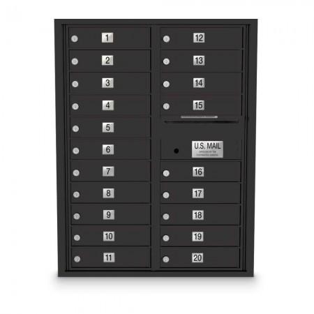 20 Door 4C Horizontal Mailbox