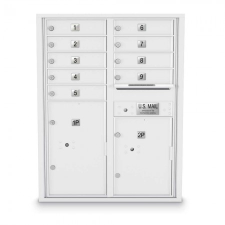 9 Door, 2 Parcel Locker 4C Horizontal Mailbox