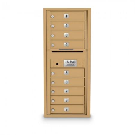 9 Door 4C Horizontal Mailbox
