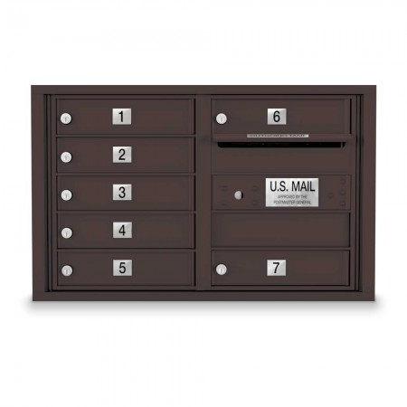 7 Door 4C Horizontal Mailbox