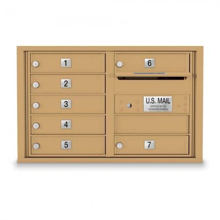 7 Door 4C Horizontal Mailbox