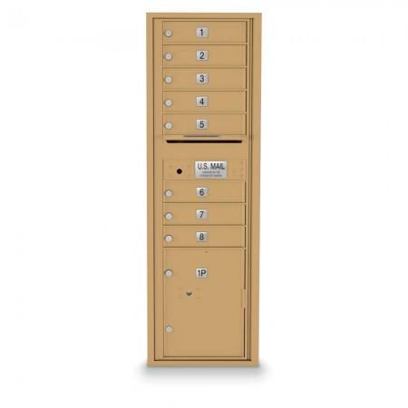 8 Door, 1 Parcel Locker 4C Horizontal Mailbox